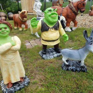 Shrek , Fiona I Osioł